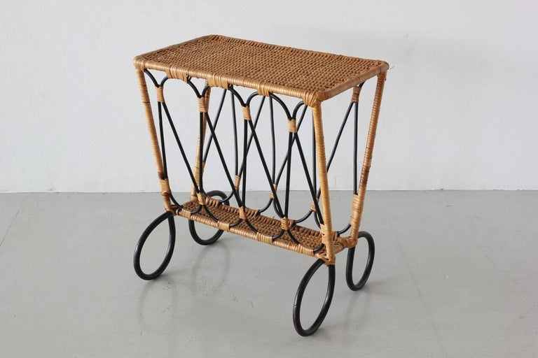 French Jacques Adnet Attributed Side Table For Sale
