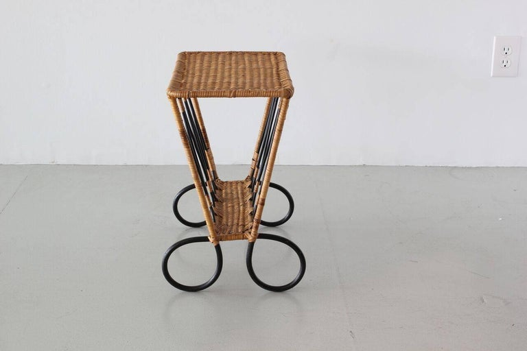 Jacques Adnet Attributed Side Table In Good Condition For Sale In Los Angeles, CA