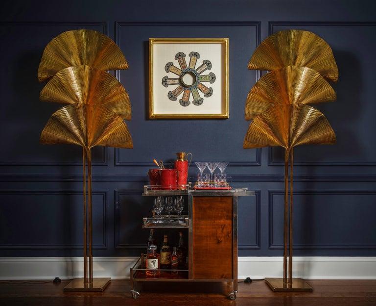 Jacques Adnet Art Deco Palisander Bar Cart For Sale 3
