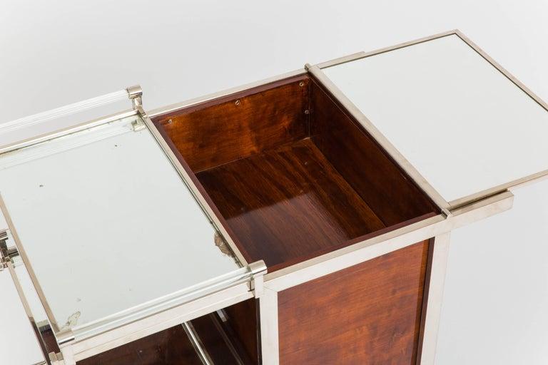 Mid-20th Century Jacques Adnet Art Deco Palisander Bar Cart For Sale