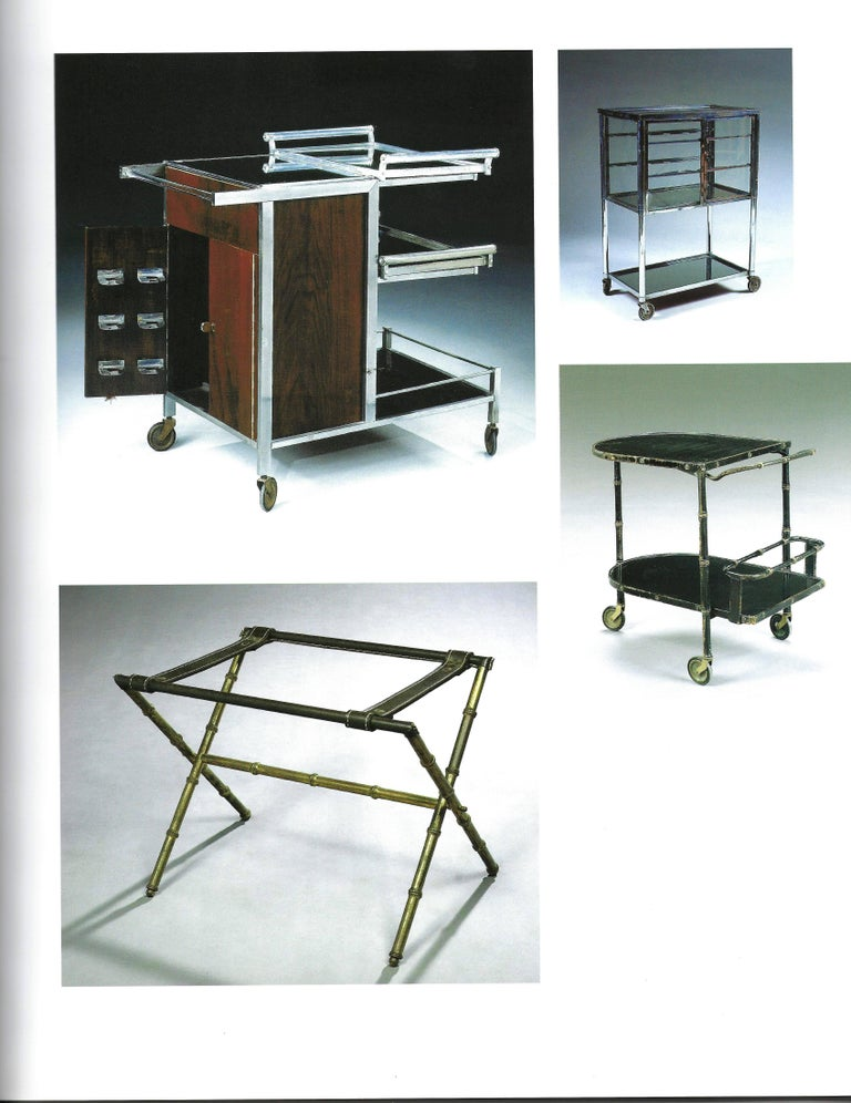 Jacques Adnet Art Deco Palisander Bar Cart For Sale 2
