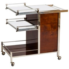 Jacques Adnet Art Deco Palisander Bar Cart