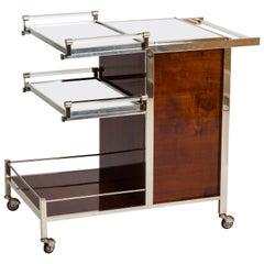 Jacques Adnet Art Deco Palisander Bar Cart