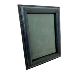Jacques Adnet Blue Leather Picture Frame