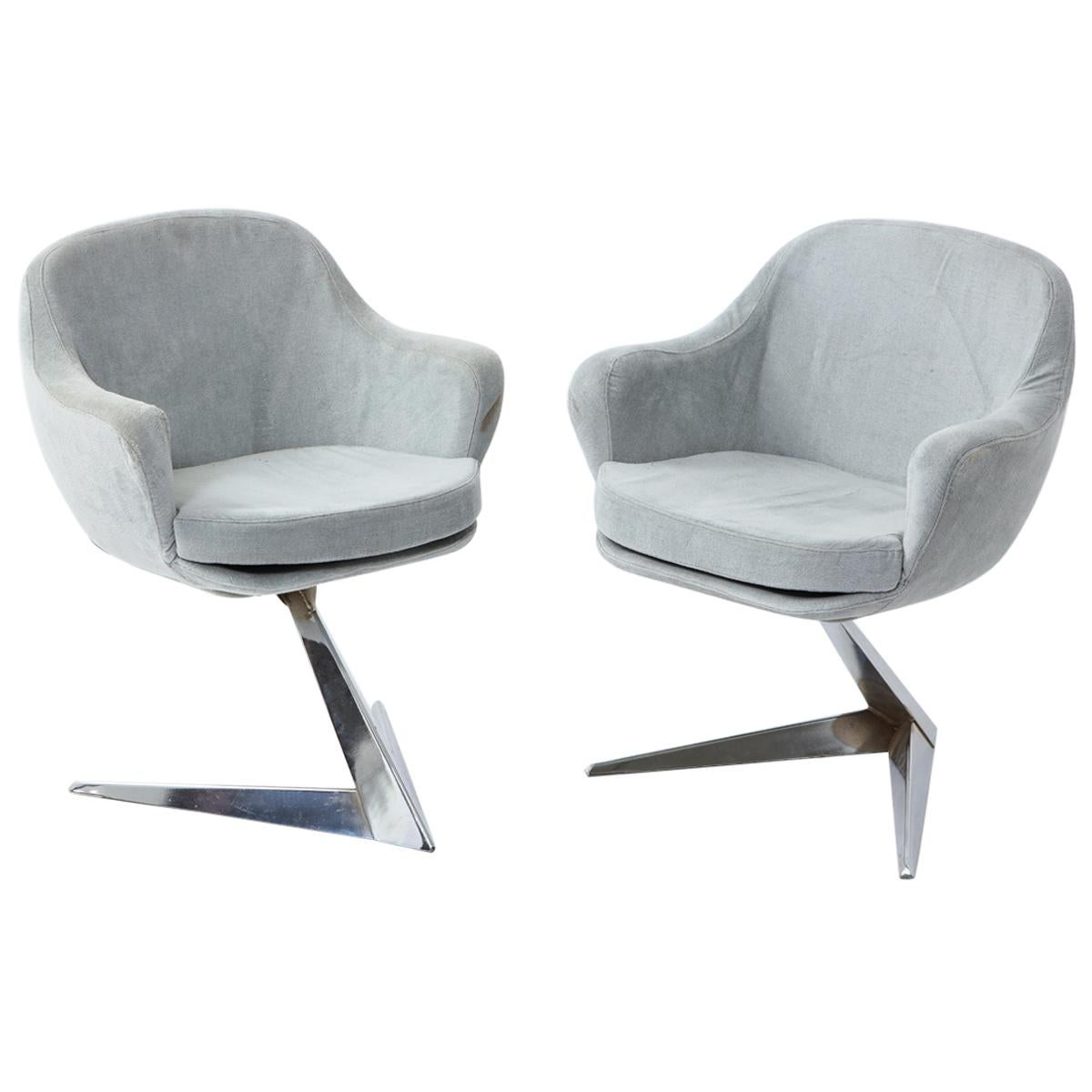 Jacques Adnet Chairs for Air France