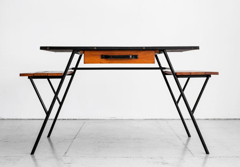 Jacques Adnet Desk and Chair 4