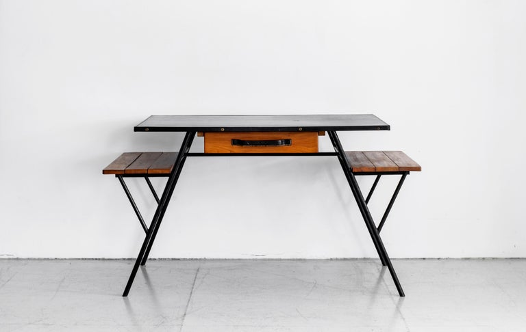 Jacques Adnet Desk and Chair In Good Condition In Los Angeles, CA