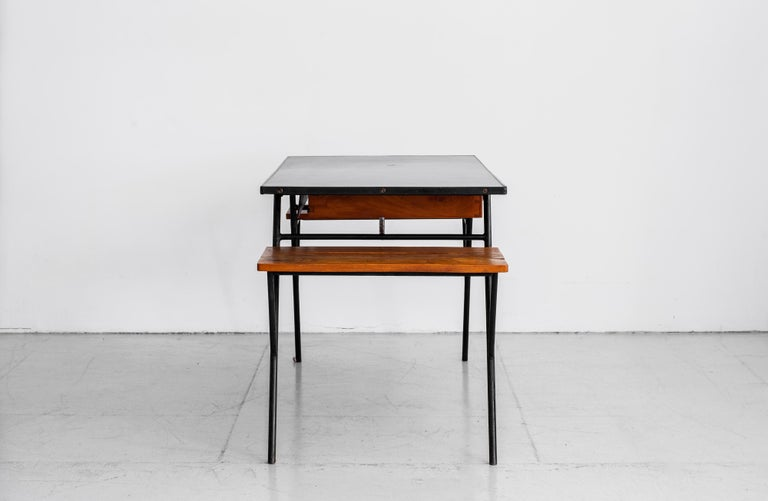 Jacques Adnet Desk and Chair 8