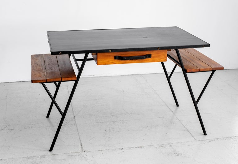 Jacques Adnet Desk and Chair 1