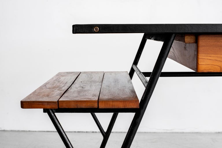 Jacques Adnet Desk and Chair 2