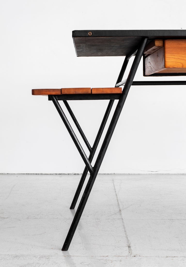 Jacques Adnet Desk and Chair 3