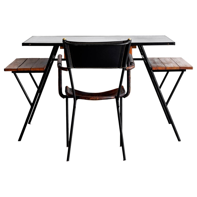 Jacques Adnet Desk and Chair 14