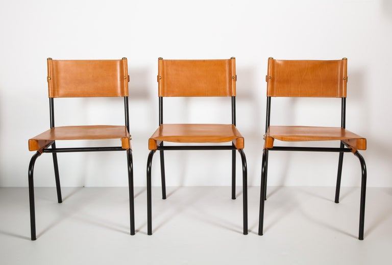 Jacques Adnet Dining Chairs For Sale 4