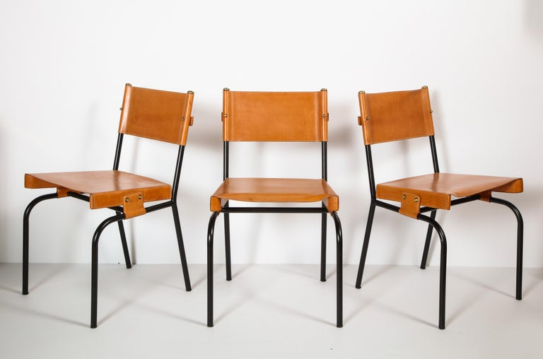 Jacques Adnet Dining Chairs For Sale 5