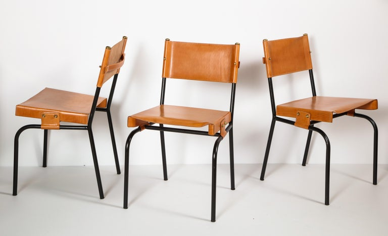 Jacques Adnet Dining Chairs For Sale 6