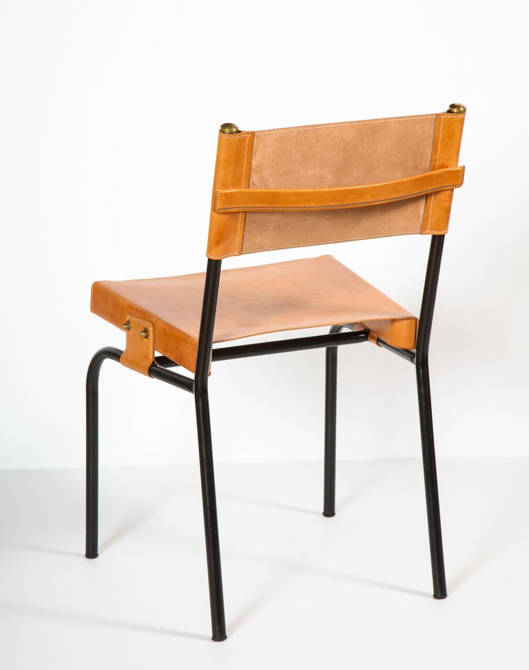 20th Century Jacques Adnet Dining Chairs For Sale