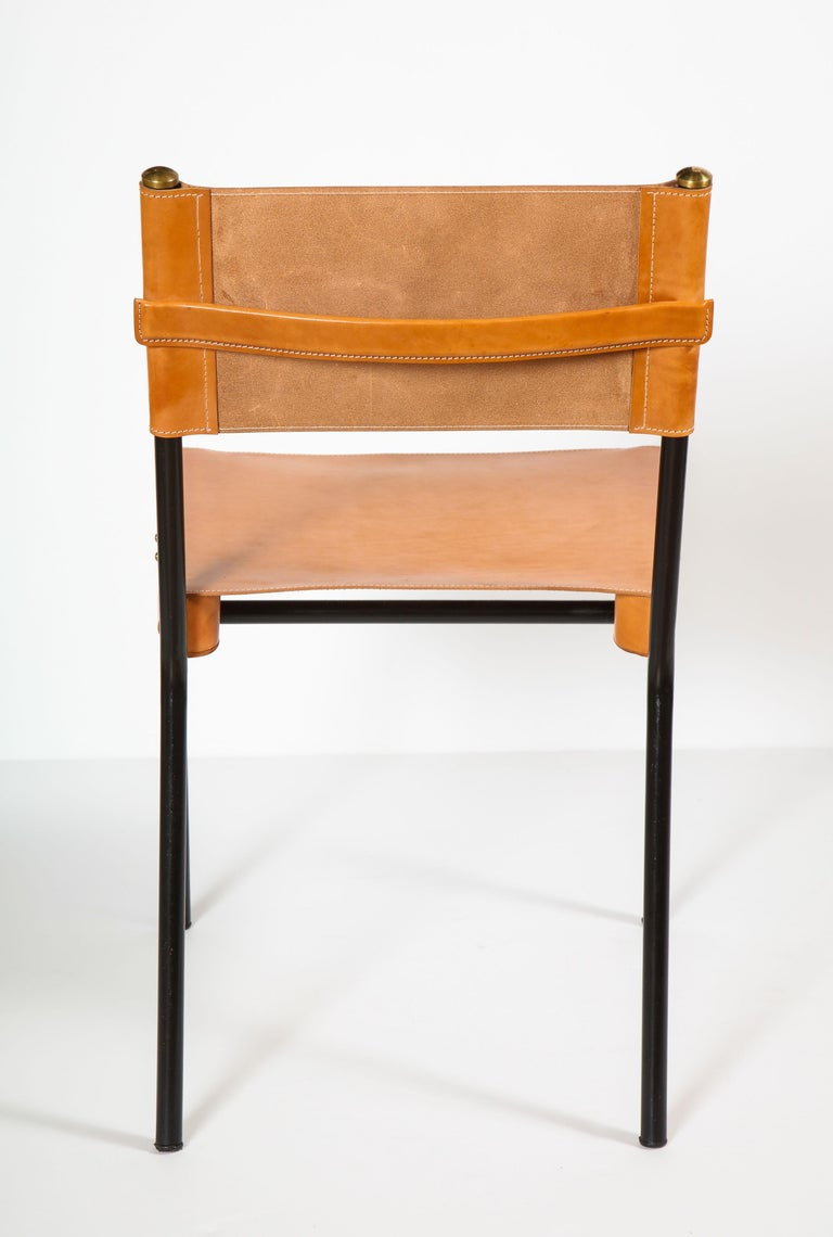 Brass Jacques Adnet Dining Chairs For Sale