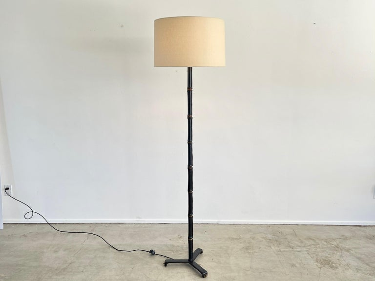 Mid-Century Modern Jacques Adnet Floor Lamp For Sale