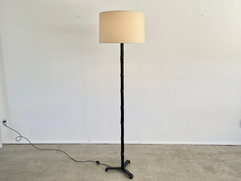 French Jacques Adnet Floor Lamp For Sale
