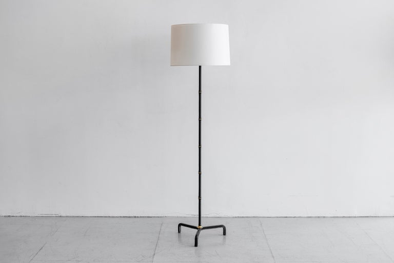 Mid-20th Century Jacques Adnet Floor Lamp For Sale