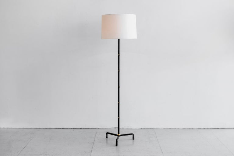 Brass Jacques Adnet Floor Lamp For Sale