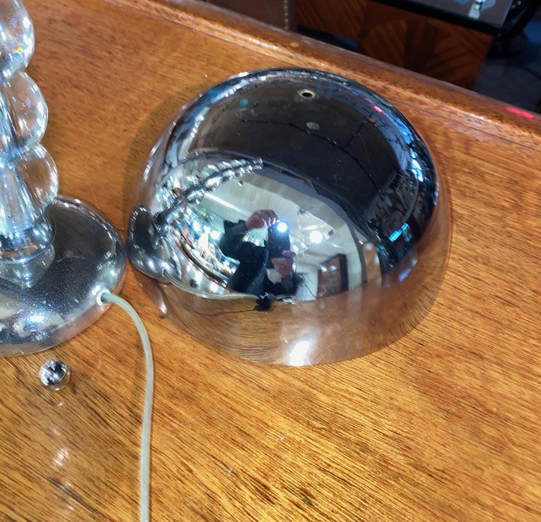 Jacques Adnet French Art Deco Machine Age Art Deco Lamp For Sale 5