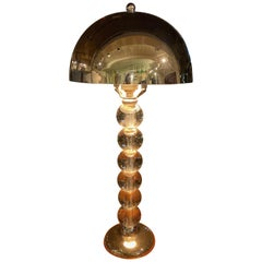 Jacques Adnet French Art Deco Machine Age Art Deco Lamp
