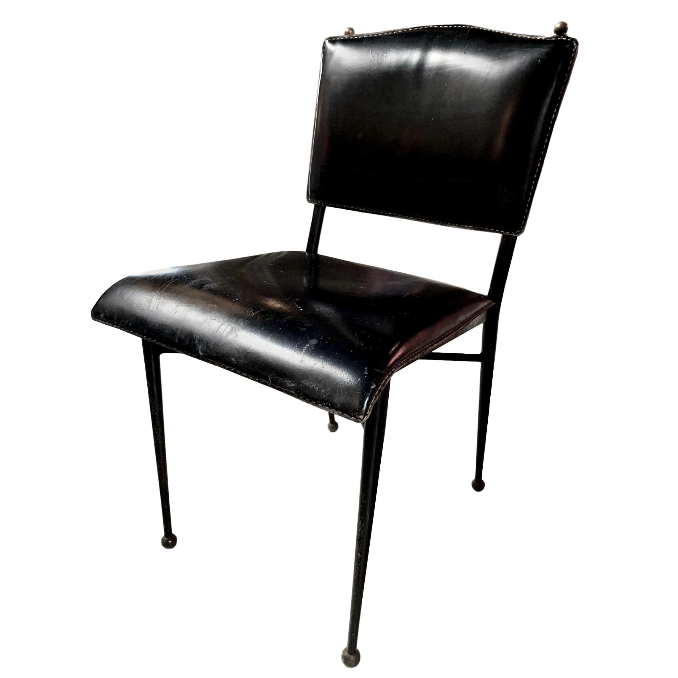 Jacques Adnet Leather Chair