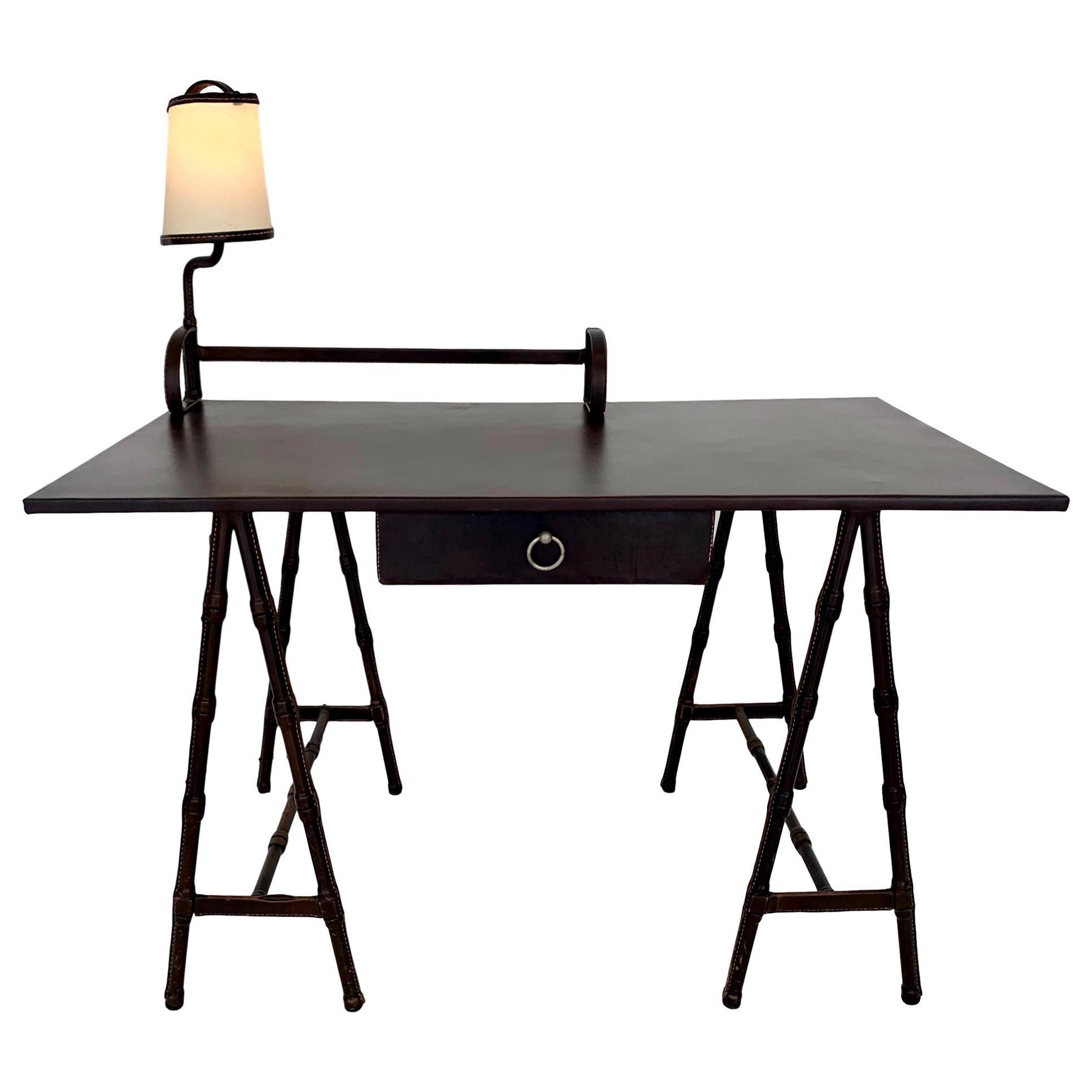 Jacques Adnet Leather Desk