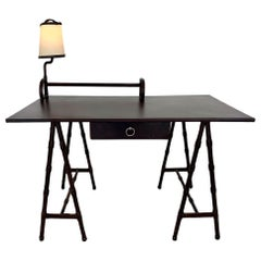 Jacques Adnet Leather Desk
