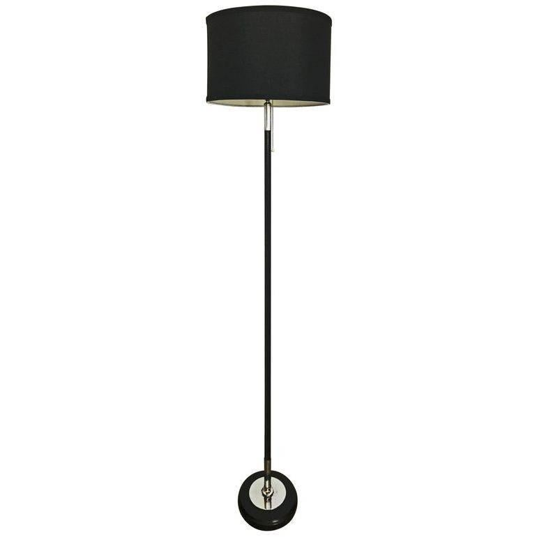 Jacques Adnet Leather Floor Lamp