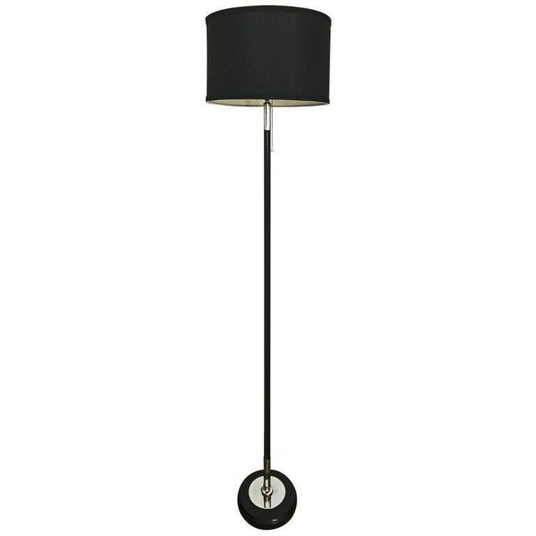 Jacques Adnet Leather Floor Lamp For Sale