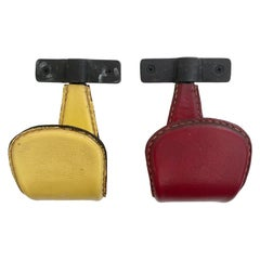 Jacques Adnet Leather Hooks