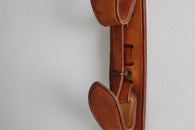 Jacques Adnet Leather Wall Hook For Sale 2