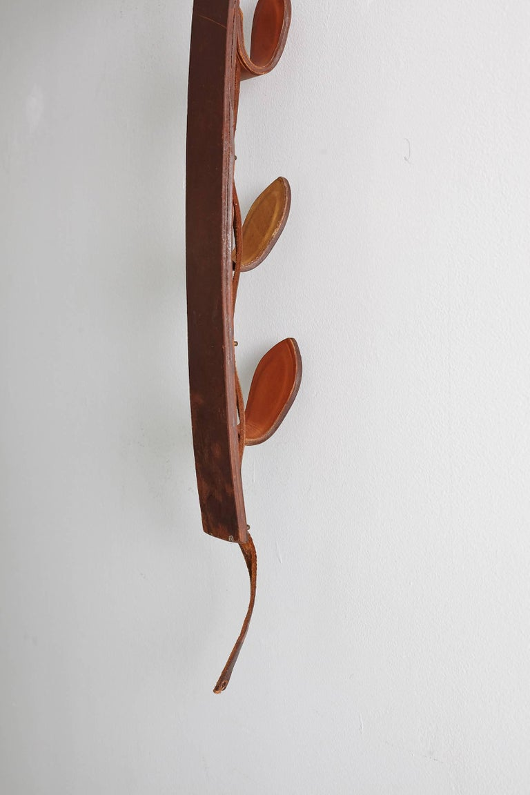 Jacques Adnet Leather Wall Hook For Sale 4