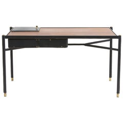 Jacques Adnet Leather Writing Desk