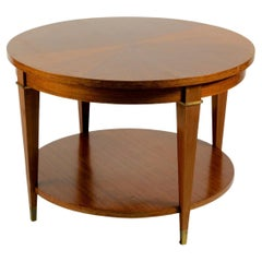 Jacques Adnet Low Table in Mahogany