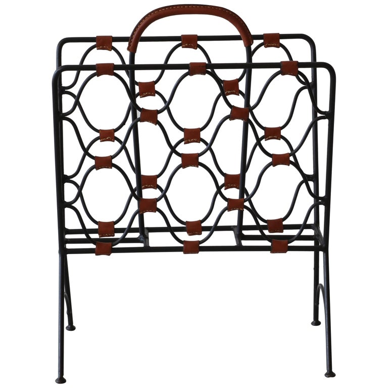 Jacques Adnet Magazine Holder For Sale
