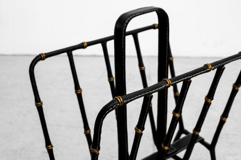 Mid-20th Century Jacques Adnet Magazine Rack For Sale