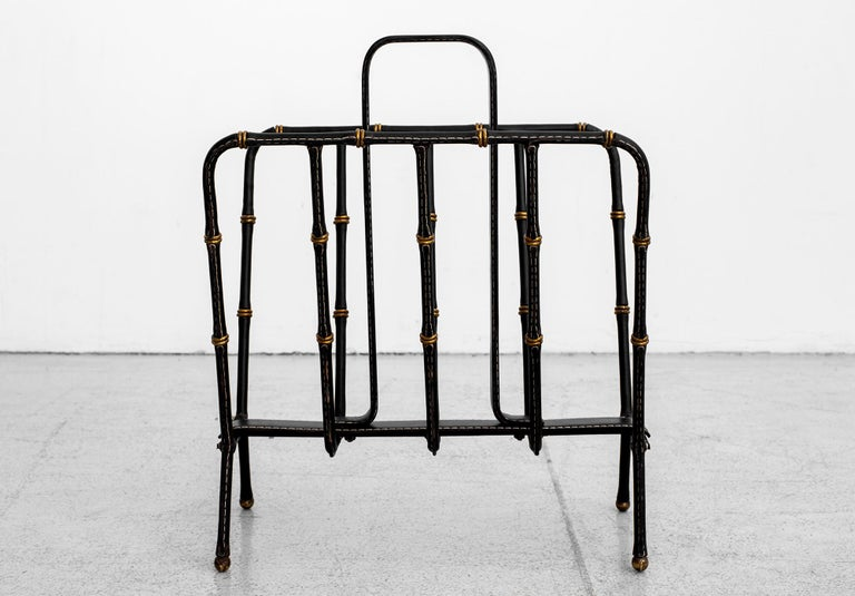 Jacques Adnet Magazine Rack For Sale 1