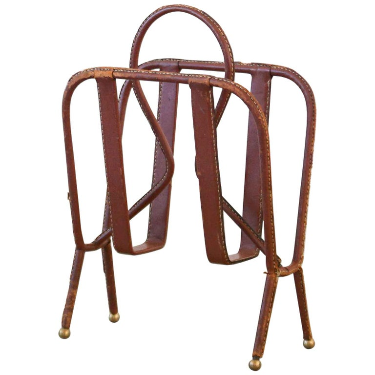 Jacques Adnet Magazine Rack For Sale