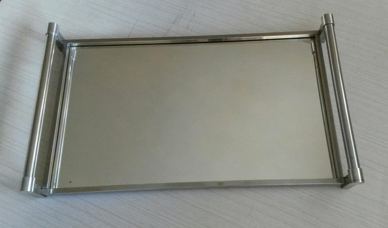 Jacques Adnet Mid-Century Modern Serving Tray, 1930s France In Good Condition For Sale In Paris, FR