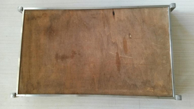 Brass Jacques Adnet Mid-Century Modern Serving Tray, 1930s France For Sale