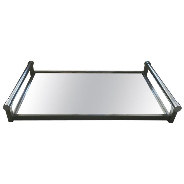 Jacques Adnet Mid-Century Modern Serving Tray, 1930s France For Sale