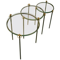 Jacques Adnet, Nesting Tables 'Set of 3', circa 1950