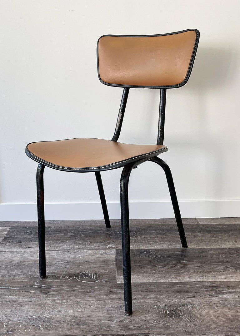 French Jacques Adnet, Original Chair, 1955 For Sale