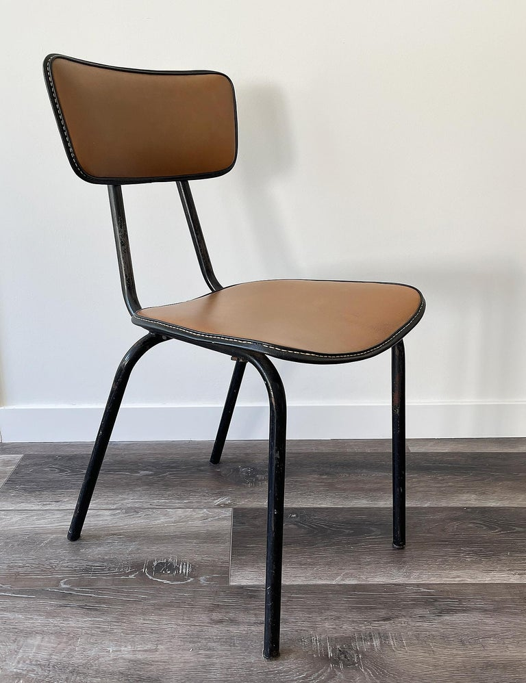 Jacques Adnet, Original Chair, 1955 In Good Condition For Sale In Encino, CA