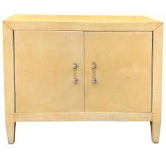 Jacques Adnet Parchment Cabinet, circa 1930s
