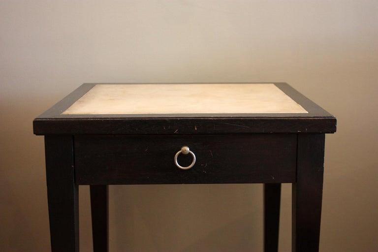 Jacques Adnet Parchment Side Tables, France, 1940 For Sale 4