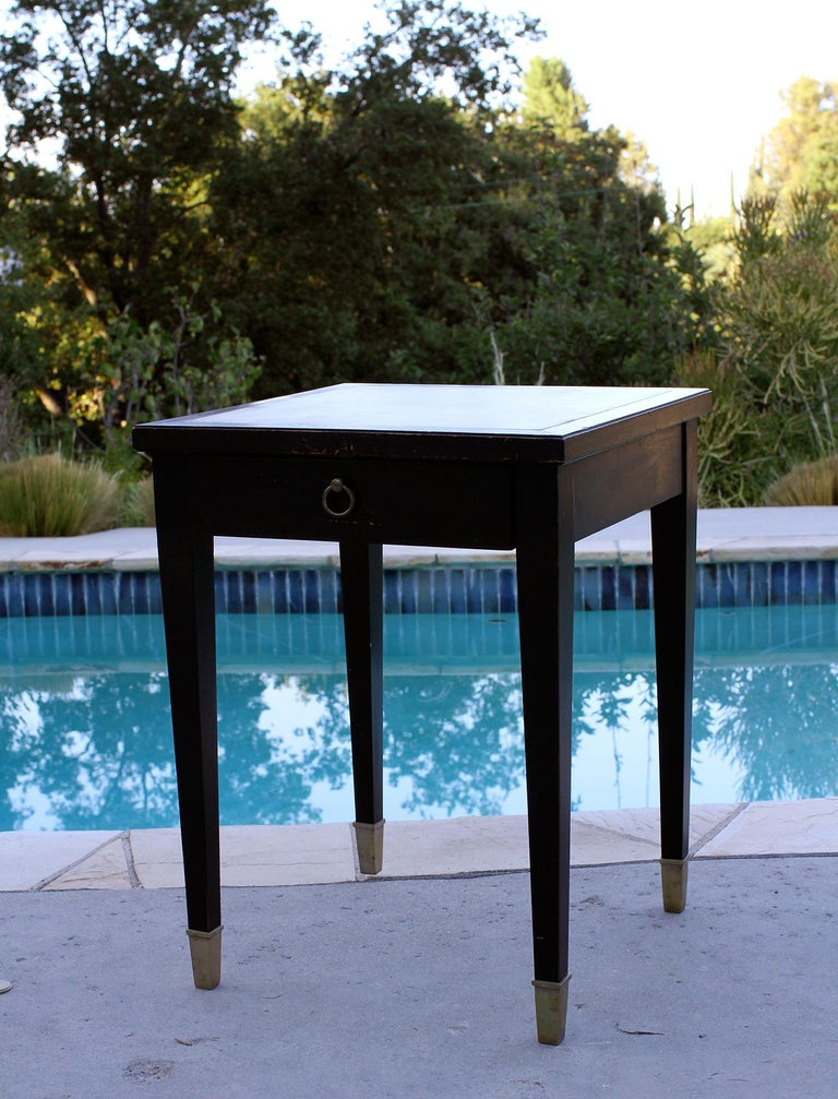 Mid-20th Century Jacques Adnet Parchment Side Tables, France, 1940 For Sale